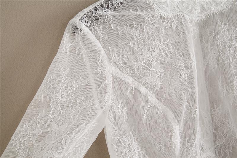 Bridesmaid lace tops crop 4