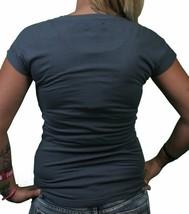 Bench UK Morph T-Shirt Gris Foncé Vert Melting Logo Noir Graphique Manche Courte image 2