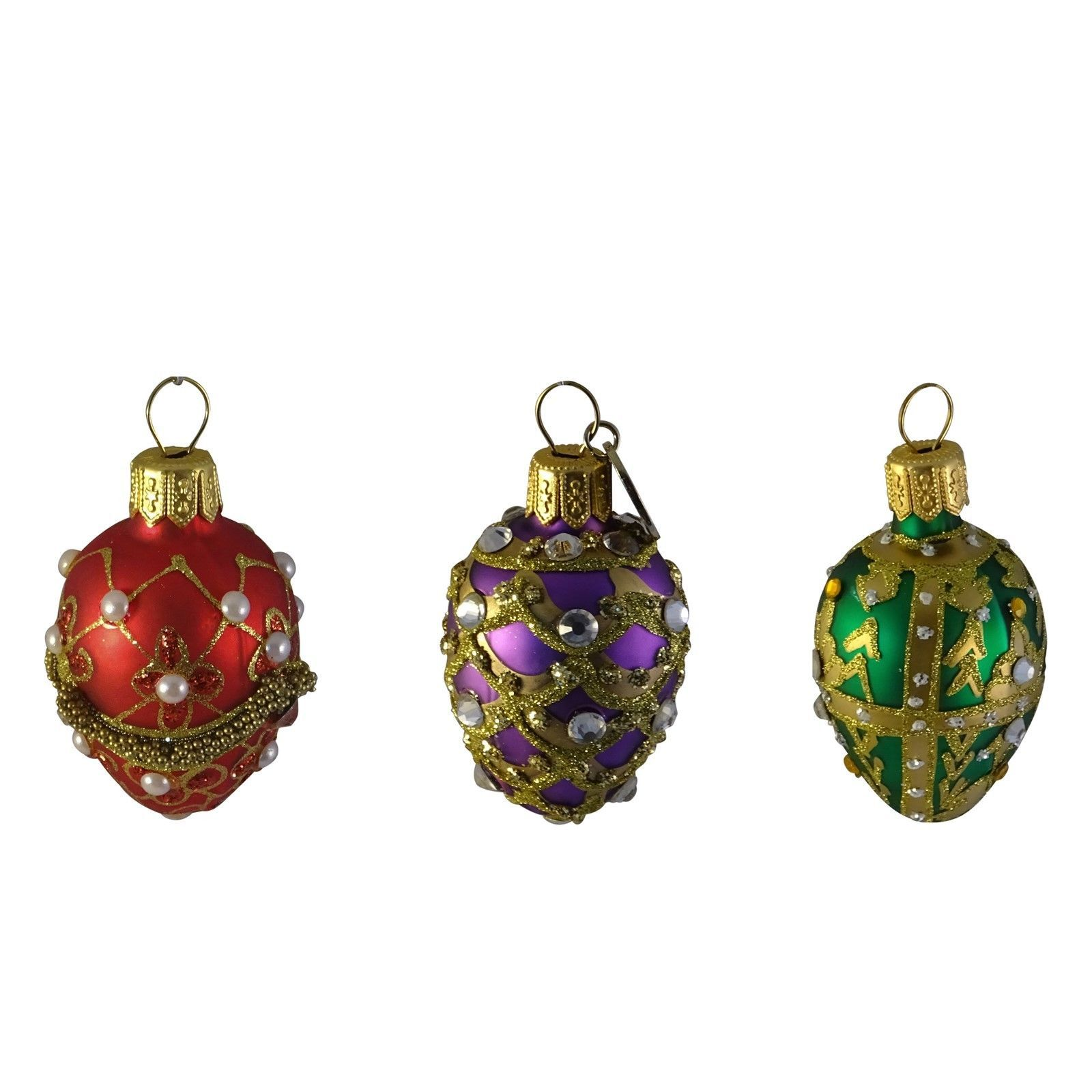 Bejeweled Egg Ornaments Hanging Holiday Easter Christmas Decorations Unicef