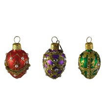 Bejeweled Egg Ornaments Hanging Holiday Easter Christmas Decorations Unicef - $24.75