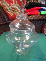 Beautiful Elegant Glass Large COMPOTE...Candy..Nuts  etc. - $8.72