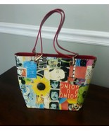 John Lennon Frida Kahlo Martini Osvaldo Italy Art Multi Color Purse - $29.04