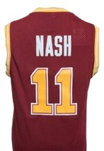 Steve Nash #11 College Basketball Jersey Sewn Maroon Any Size image 5