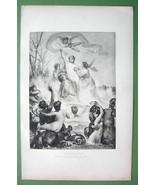 NUDE Mythology Triumph of Venus Centaurs Nymphs Cupids - Victorian Era P... - $16.84