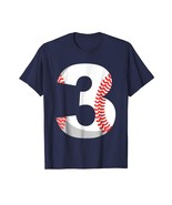 Dad Shirts - Third Birthday 3rd BASEBALL Shirt - Number 3 Born in 2015 Men - $19.95+