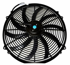 """140041 16"""" Heavy Duty 12V Radiator Electric Wide Curved Blade FAN & RELAY image 2"""