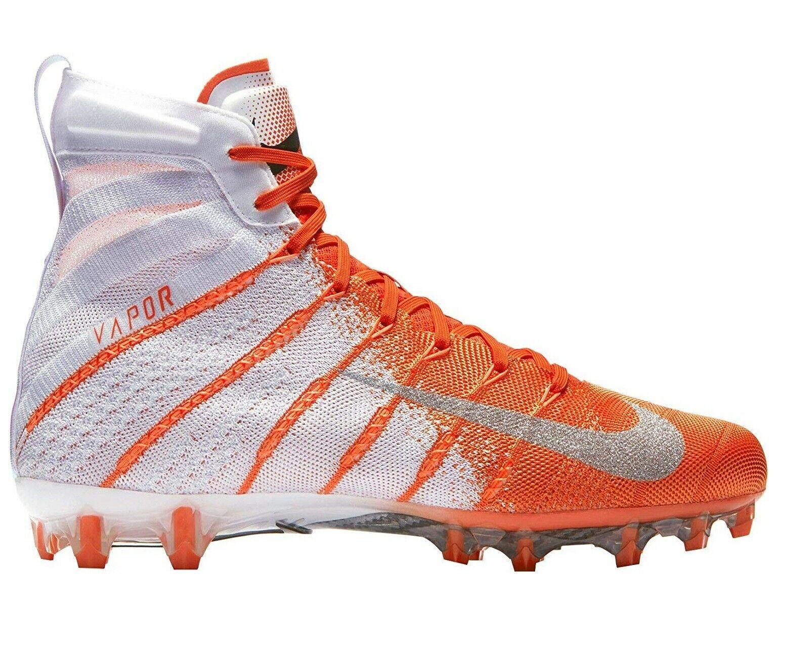 Nike Vapor Untouchable 3 Elite Football Cleats Orange White Size 11.5 AH7408-108