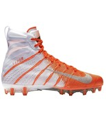 Nike Vapor Untouchable 3 Elite Football Cleats Orange White Size 11.5 AH... - $84.95