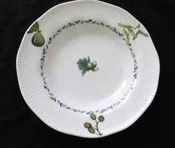 Noritake Forest Park Impromptu Soup Bowl Embossed Rim Green Leaves Blue ... - $7.91