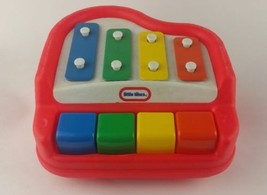 Little Tikes Tap A Tune Piano Xylophone Baby Girl Boy Toy Red Musical  - $5.90