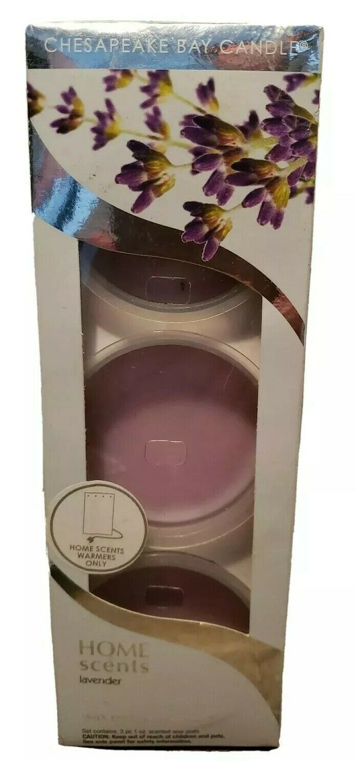 Chesapeake Bay Candle Home Scents Lavender Wax Melt Pods 3 PC NEW - $15.09