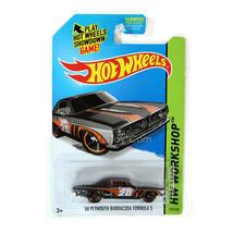 NEW 2014 Hot Wheels HW WORKSHOP Black '68 Plymouth Barracuda Formula S #239 HOT - $14.99