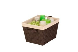 Honey-Can-Do STO-02985 Nested Woven Tote with Liner, Esspresso Brown, Small - $12.24