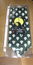 Jack Skeleton Logo with skulls Green & White Tie NMBC Nightmare Before C... - $25.00