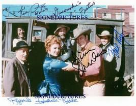 Gunsmoke Cast Autograph Autogram Rp Photo James Arness Amanda Blake Ken Curtis - $18.99