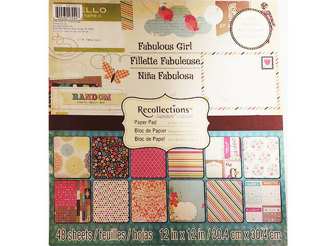 Recollections Fabulous Girl Cardstock Paper Pad 48 Sheets