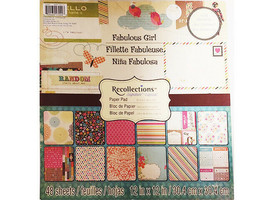 Recollections Fabulous Girl Cardstock Paper Pad 48 Sheets image 1