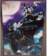 Power Rangers Black Ranger vs Batman Glossy Print 11 x 17 In Hard Plasti... - $24.99