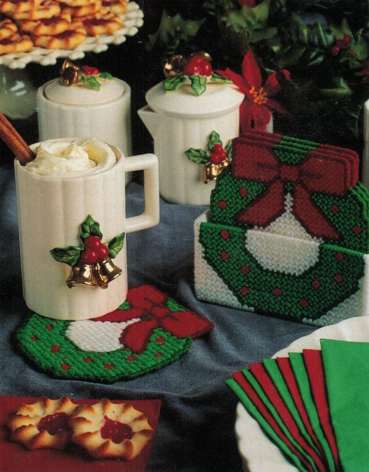 Plastic Canvas Christmas Coaster Patterns.Plastic Canvas Christmas Thanksgiving And 50 Similar Items