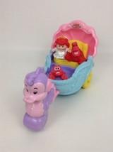 Fisher Price Little People Little Mermaid Ariel's Coach w/ Figures & Bat... - $24.70