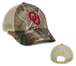 Oklahoma Sooners Camo Trucker Golf Hunting Fishing Sports Hat Cap Men's Adj NEW - $14.84
