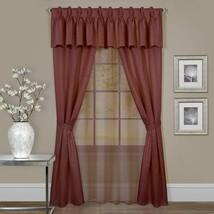 Achim Home Furnishings Fairfield Window in a Bag, 55 63-Inch, Taupe, Marsala - $46.42