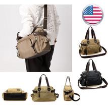Men Vintage Canvas Cross Body Shoulder Messenger Bag Satchel School Bag ... - $6.00+