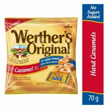 3x Werther's Original No Sugar Added Caramels Hard Candy 70g Canada FRESH  - $24.01