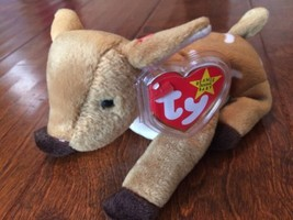 1998 Whisper Deer Fawn Ty Beanie Baby Plush Stuffed Animal Toy new  - $12.19