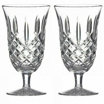 Waterford Araglin Iced Tea Beverage Footed Glass (2) Glasses Ireland #5483940200 - $218.79