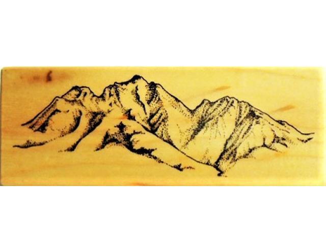 Vintage PSX 1995 Mountain Range Rubber Stamp #G-1537