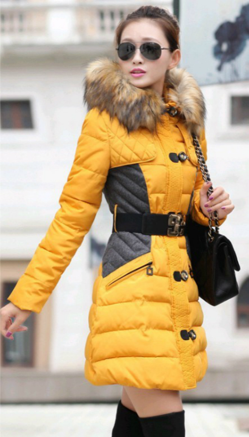 2017New Fashion Clothing Fur Hooded Long Style Warm Down Coat Winter Parkas Coat, used for sale  USA