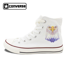 Design Animal Canvas Shoes Unisex Eagle Converse All Star White Sneakers... - $119.00