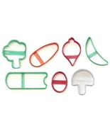 Vegetable Veggie Platter Tray Healthy Food Set of 7 Cookie Cutters USA P... - $12.99