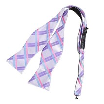 DBA7C09E Pink Blue Purple Plaids Bow Tie Microfiber Gift Idea For Christ... - $19.35