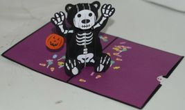 Lovepop LP1593 Halloween Bear Pop Up Card White Envelope Cellophane Wrap image 3