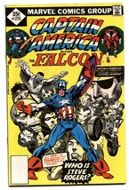 CAPTAIN AMERICA #215 1977-FALCON-KIRBY-MOTORCYCLE COVER VF. - $24.83