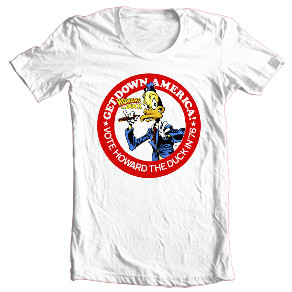 Howard the Duck Presidential Campaign button t-shirt retro vintage marvel comics