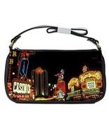 Vintage Downtown Las Vegas at Night Fremont Street Shoulder Clutch Bag - $16.87