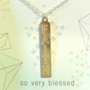 Venice & Violet By Dogeared FAITH necklace