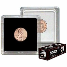 CASE (500) BCW (2 x 2) COIN SNAPS - PENNY - BLACK - $132.40