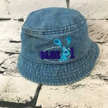Nick Jr Blues Clues Toddler Hat Blue Denim Bucket Sun Cap Vintage Viacom... - $11.88