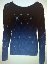 Tommy Hilfiger Women's Master Navy Blue Knitted Crewneck Sweater Sz M - €33,75 EUR