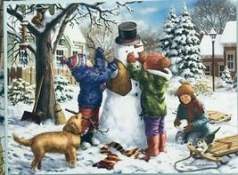 Bits And Pieces 500 Piece Puzzle Building A Snowman - $29.68
