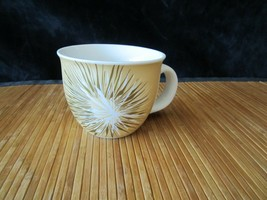 2014 Starbucks White with Gold Starburst Cup Mug 14 oz - $15.99