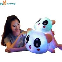 Cute Panda Glowing Plush Toy Colorful Luminous Stuffed Doll Soft Animal ... - $38.90