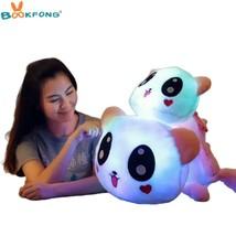 Cute Panda Glowing Plush Toy Colorful Luminous Stuffed Doll Soft Animal ... - $38.90
