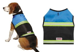 Reflective Dog Safety Vests Blue & Black Rugged Outdoor Protection Choos... - $17.71+