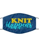 Knit Happens, knitting addiction craft hobby - Navy Blue Multi-layer Fac... - £12.28 GBP