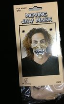 Punk Horror HALF FACE MASK-JAW MOVES Halloween Cosplay costume Accessory... - $5.91